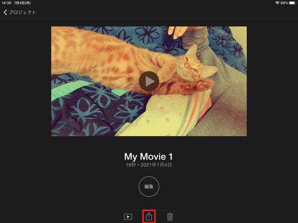 iMovieを使って、iPadでフィルターをかけた動画を保存